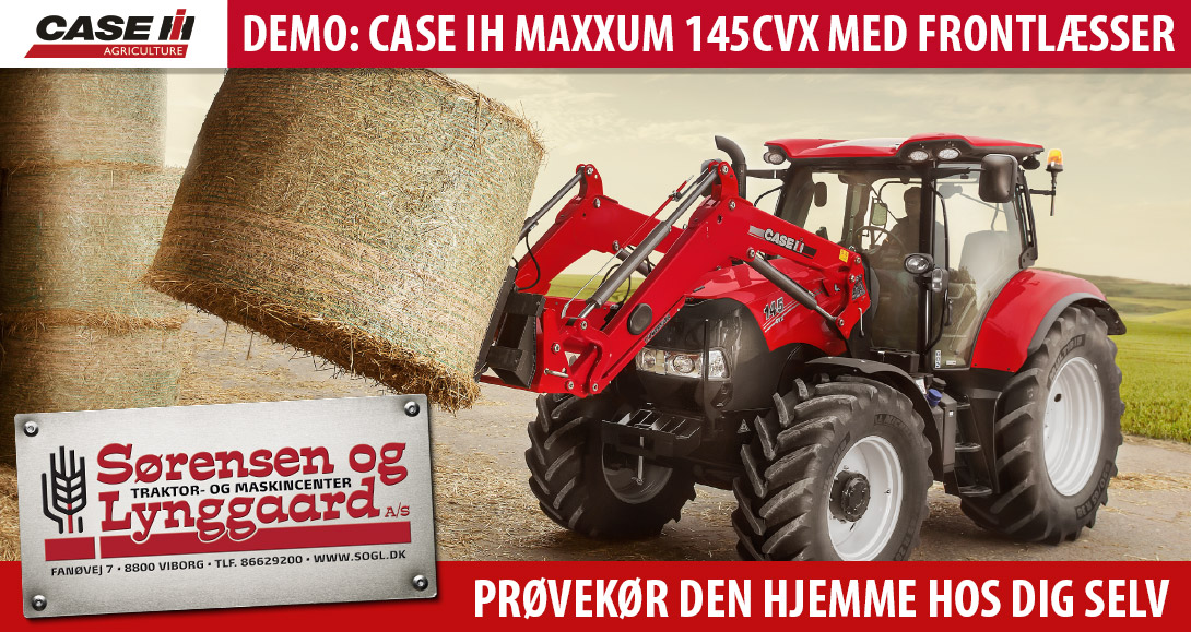 Case IH Maxxum 145 CVX frontlæsser